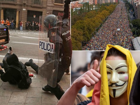 Protests over jailing of Catalan separatists bring Barcelona to a standstill