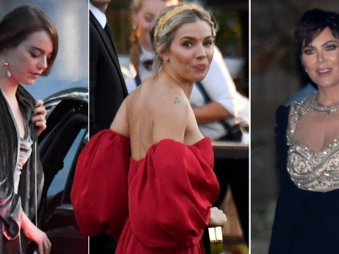 Kris Jenner, Emma Stone and Sienna Miller lead glam stars arriving for Jennifer Lawrence's wedding to Cooke Maroney