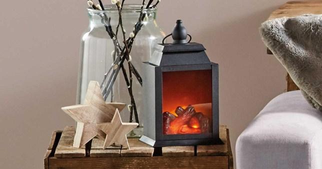 Aldi Christmas battery powered log burner