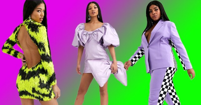 Outfits from the ASOS DESIGN x Christian Cowan collaboration