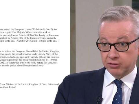Michael Gove insists Brexit is happening on October 31 despite delay request