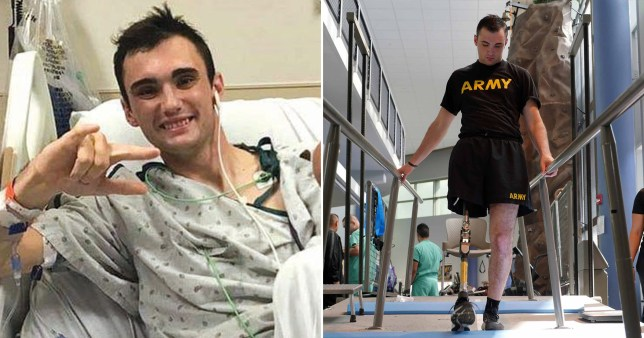 Caption: The soldier who amputated his own leg DVIDS/U.S. Army photo by Corey Toye