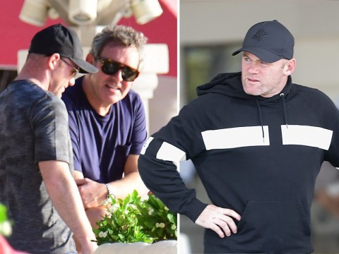 Wayne Rooney and sons spend half-term on the beach as poorly Coleen stays at home