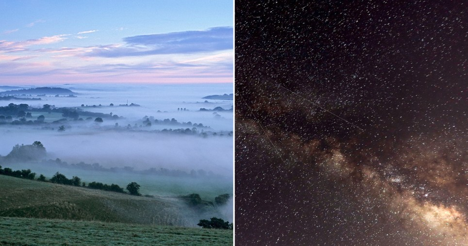 Cranborne Chase and the night sky