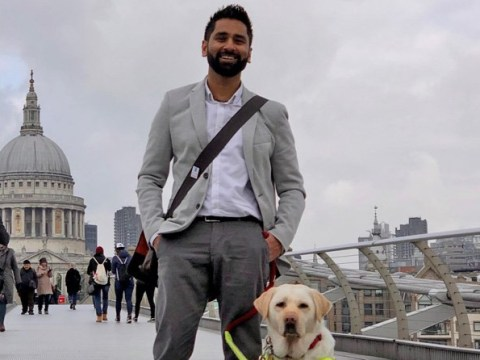 Woman tells blind man using guide dogs is as cruel as cock-fighting