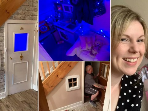 Mum creates incredible under-the-stairs playhouse for under £100