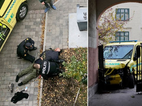 Armed man steals ambulance and knocks several people down in Oslo