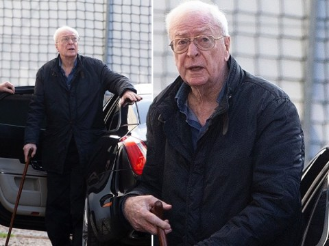 Michael Caine supported by walking stick as he prepares to take on Fagin in Oliver Twist remake
