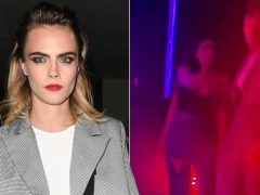 Cara Delevingne only has eyes for Ashley Benson as she launches Nasty Gal collab