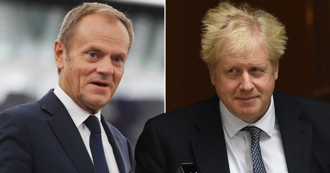 Donald Tusk tells Boris Johnson in phone call that he is recommending Brextension