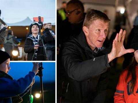 Entire Welsh village turns off lights to stargaze with astronaut Tim Peake