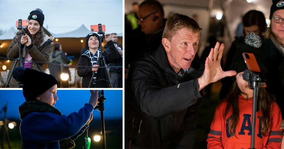 Tim Peake in the village of Star
