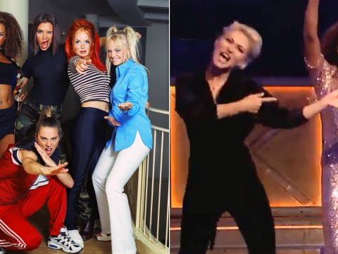 Emma Willis gets to live out Spice Girls fantasy as she performs Spice up Your Life with Mel B