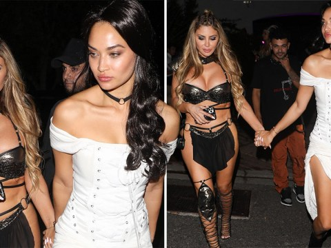 Kim Kardashian's bestie Larsa Pippen wears Xena-style loincloth to Paris Hilton's Halloween party