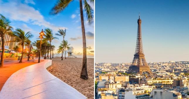 Miami and Paris images