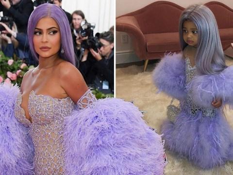 Stormi Webster wins Halloween dressed as Kylie Jenner's mini-me in Met Gala gown