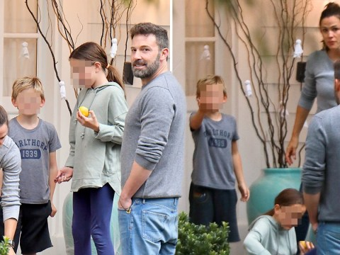 Ben Affleck hangs out with his kids at ex Jennifer Garner's house after Halloween sobriety 'slip'