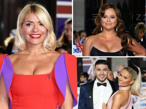 Emily Atack shows off new brunette hair as she joins Cheryl, Holly Willoughby and Love Island's Molly-Mae Hague and Tommy Fury at Pride Of Britain Awards