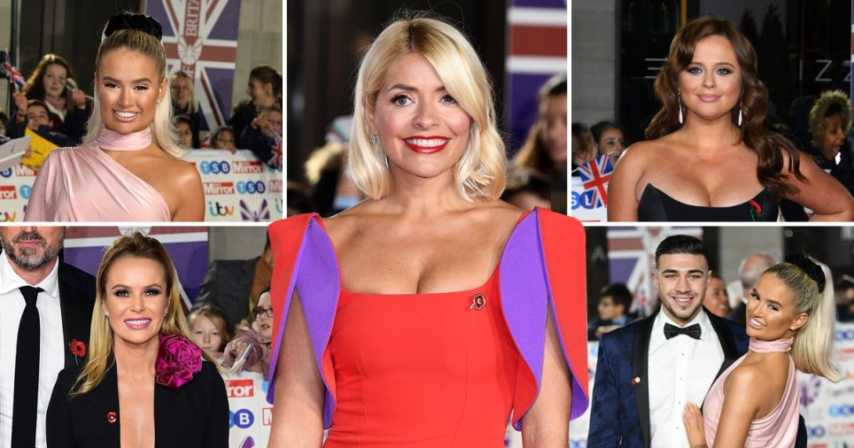 Molly-Mae Hague, Amanda Holden, Tommy Fury, Emily Atack and Holly Willoughby