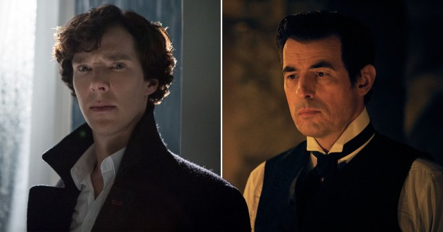 Benedict Cumberbatch as Sherlock Holmes and Claes Bang as Dracula