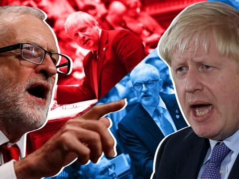 Jeremy Corbyn and Boris Johnson hurl insults as election battle begins
