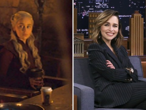 Game Of Thrones star Emilia Clarke reveals true identity of the infamous coffee cup cuplrit