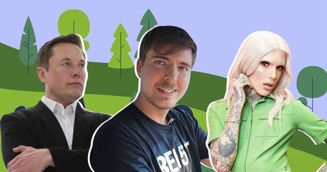 Elon Musk, MrBeast and Jeffree Star
