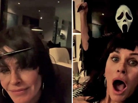 Courteney Cox wins Halloween as she hacks herself iconic Scream fringe and you can all go home now