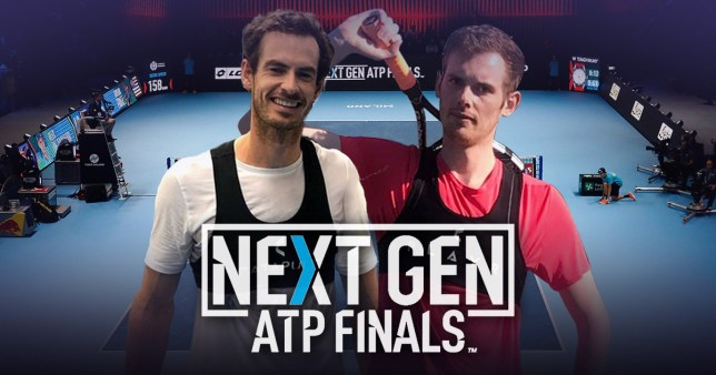 Andy Murray wearing the Catapult tracking device that will be used at the Next Gen ATP Finals in Milan