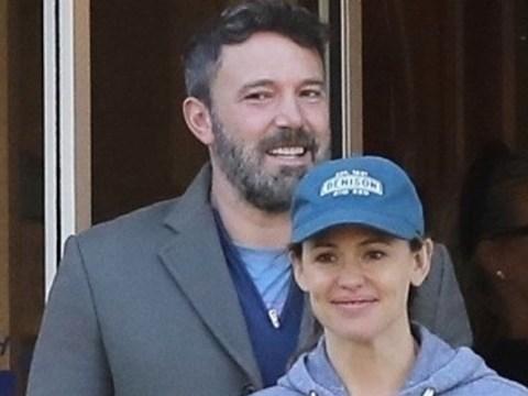 Ben Affleck is all smiles as he joins ex-wife Jennifer Garner on school run following sobriety 'slip'