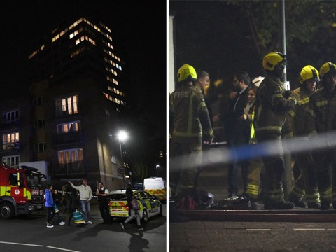 Firefighters rescue man from blaze at tower block in south-west London