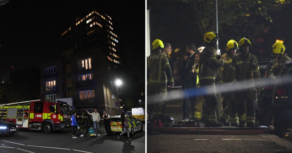 The fire was brought under control earlier this evening (Picture: PA)