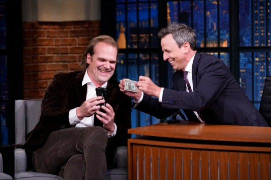 David Harbour on Late Night with Seth Meyers
