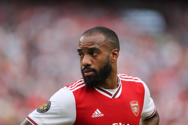 LANDOVER, MD - JULY 23: Alexandre Lacazette of Arsenal during the International Champions Cup fixture between Real Madrid and Arsenal at FedExField on July 23, 2019 in Landover, Maryland. (Photo by Matthew Ashton - AMA/Getty Images)