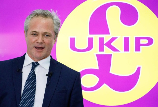 The new leader of UKIP (the UK Independence Party), Richard Braine, speaks during a press conference in central London on August 14, 2019. (Photo by Tolga AKMEN / AFP)TOLGA AKMEN/AFP/Getty Images