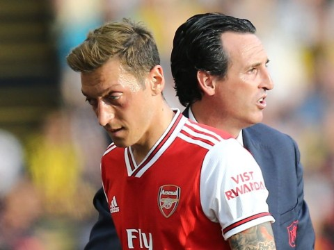 Unai Emery claims Mesut Ozil did not deserve to be a substitute in Arsenal's win over Standard Liege