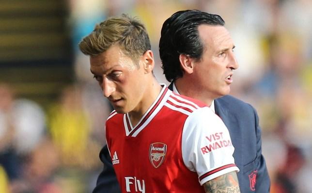 Unai Emery slammed Mesut Ozil after Arsenal's win over Standard Liege