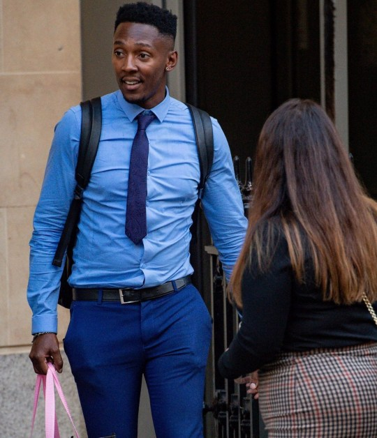 Tyrone Coleman outside Bristol Crown Court. Coleman is a defendant in a trial concerning the alleged blackmail of a professional footballer, who cannot be named for legal reasons. PA Photo. Picture date: Thursday 19th September 2019. See PA story COURTS Football. Photo credit should read: Jacob King/PA Wire