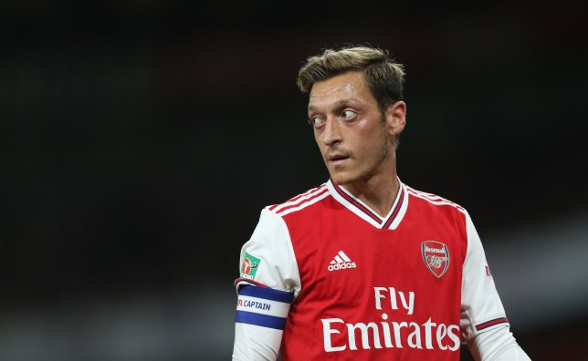 Mesut Ozil has made just two appearances this term