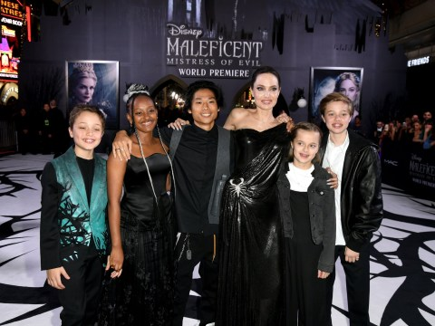 Angelina Jolie almost outshone by her kids as Jolie-Pitt clan serves looks at Maleficent 2 premiere