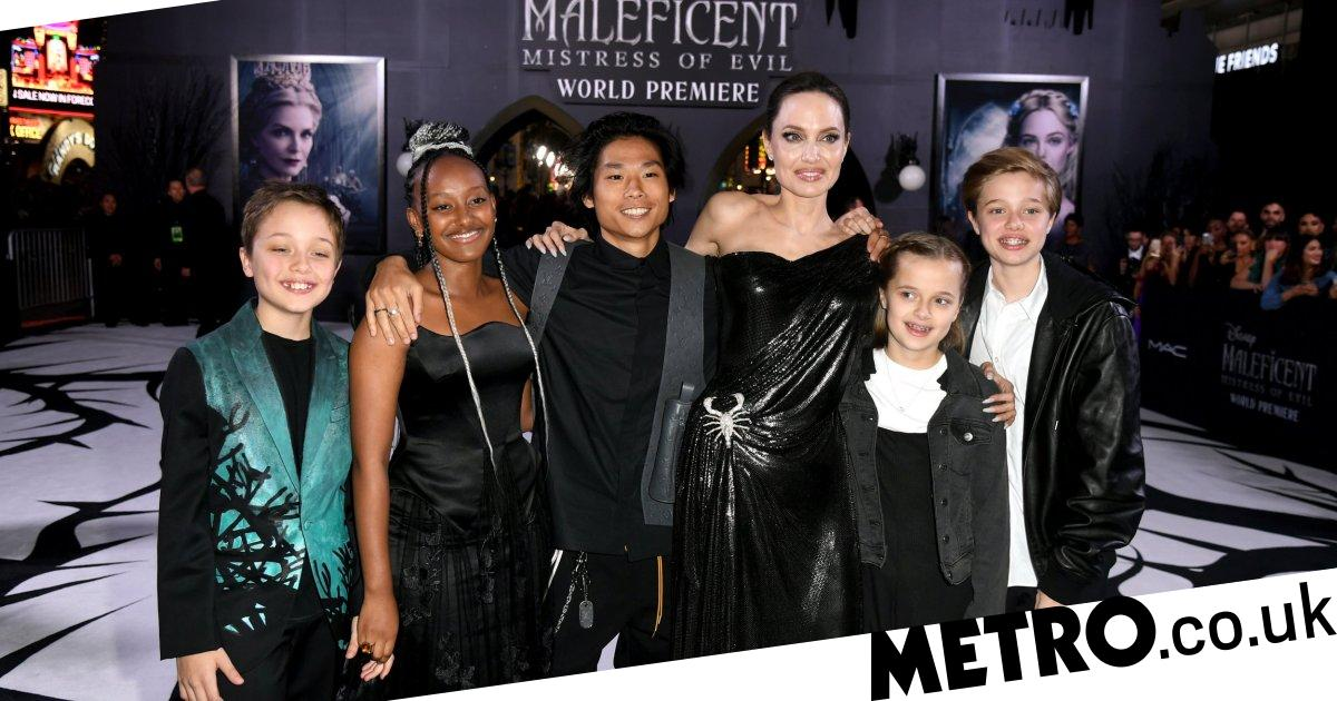 Angelina Jolie Kids Accompany Her To Maleficent 2 Premiere