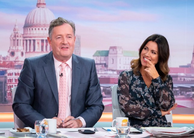 Piers Morgan and Susanna Reid presenting Good Morning Britain