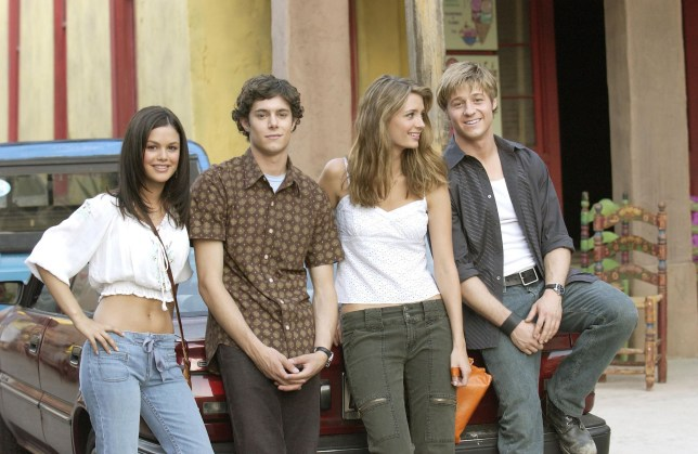 Editorial use only. No book cover usage. Mandatory Credit: Photo by Warner Bros Tv/Kobal/REX (5885983d) Rachel Bilson, Adam Brody, Mischa Barton, Benjamin McKenzie The OC - 2003 Warner Bros TV USA Television Documentary The Orange County / The O.C.