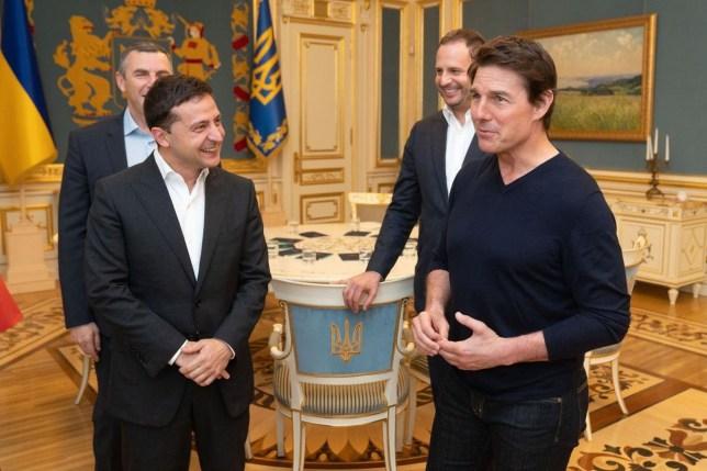 President Volodymyr Zelensky and Tom Cruise