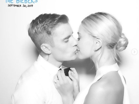 Justin Bieber shares first wedding picture with 'fire' bride Hailey Baldwin as they marry for second time