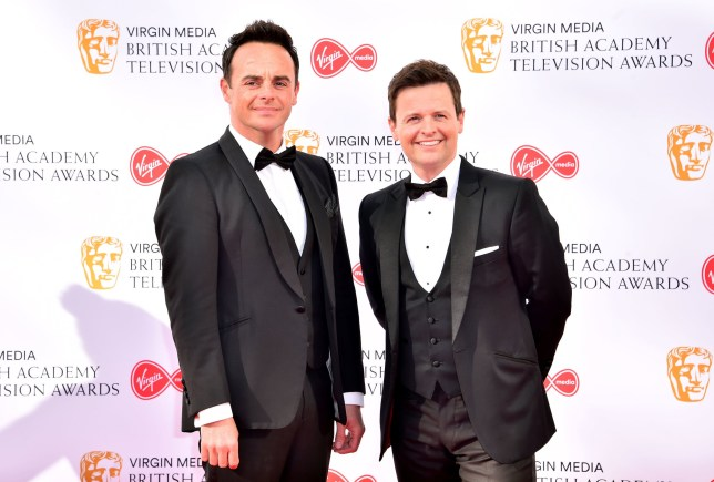 EMBARGOED TO 0001 WEDNESDAY OCTOBER 02 File photo dated 12/05/19 of Anthony McPartlin (left) and Declan Donnelly, who will discover that one of them is descended from royalty when they trace their family history for a new series. PA Photo. Issue date: Wednesday October 2, 2019. Ant and Dec's DNA Journey on ITV will see the Saturday Night Takeaway duo joined by genealogists and historians as they follow their maternal and paternal bloodlines into the past. See PA story SHOWBIZ McPartlin. Photo credit should read: Matt Crossick/PA Wire