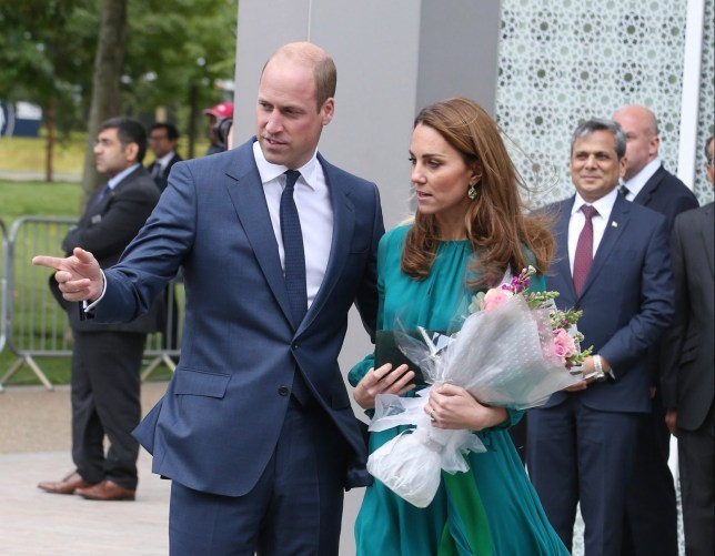 LONDON, ENGLAND - OCTOBER 02: Prince William, Duke of Cambridge and Catherine, Duchess of Cambridge visit the Aga Khan Centre on October 02, 2019 in London, England. (Photo by Neil Mockford/GC Images)