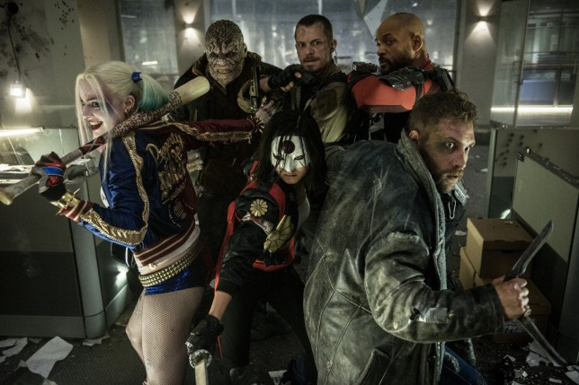 Editorial use only. No book cover usage. Mandatory Credit: Photo by Moviestore/REX (5584829b) Margot Robbie, Adewale Akinnuoye-Agbaje, Joel Kinnaman, Will Smith, Karen Fukuhara, Jai Courtney Suicide Squad - 2016
