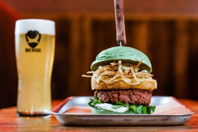 BrewDog launches new hybrid burger 50% beef 50% vegan Picture: @BrewDog METROGRAB