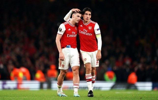 Kieran Tierney was making his second start for Arsenal